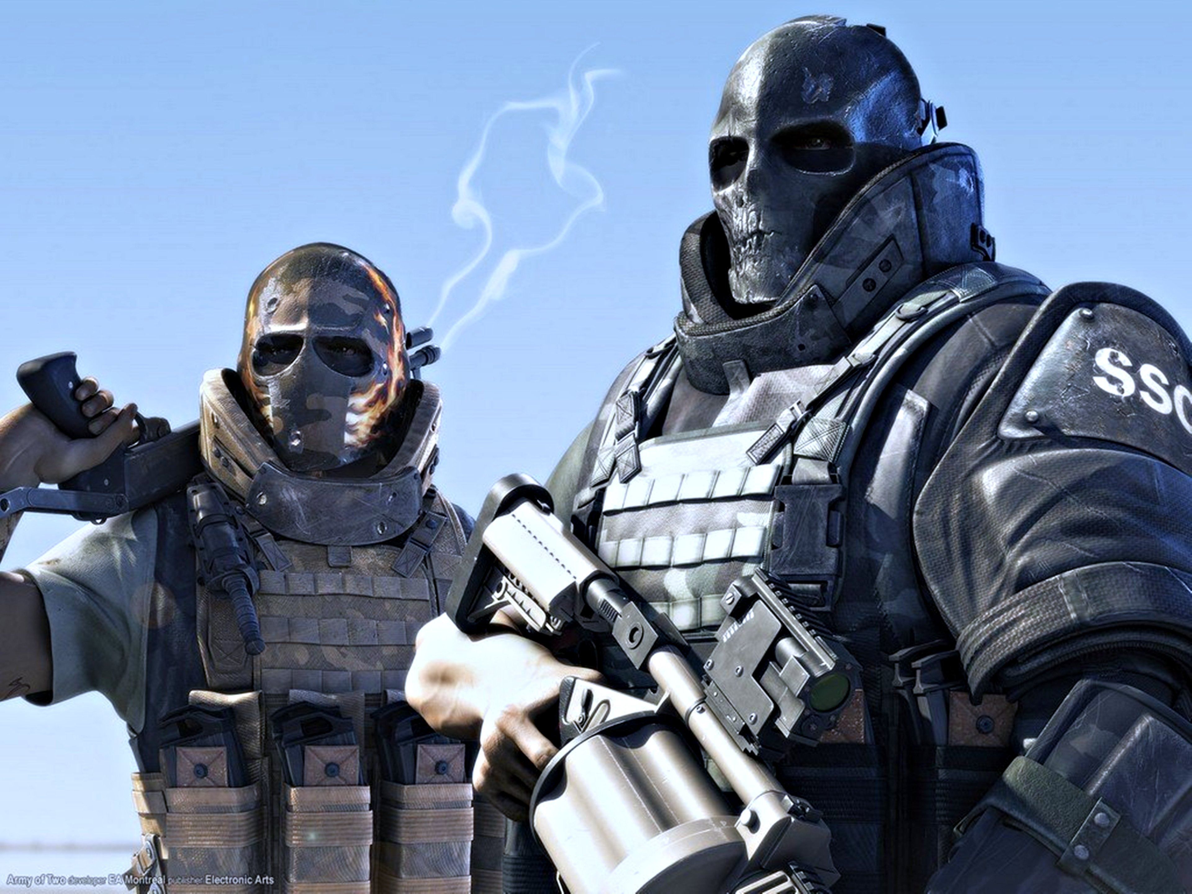 Army Of Two EA Games PS3 Background Wallpaper