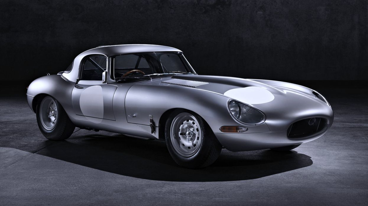 2014 Jaguar Lightweight E-Type old gray motors speed wallpaper