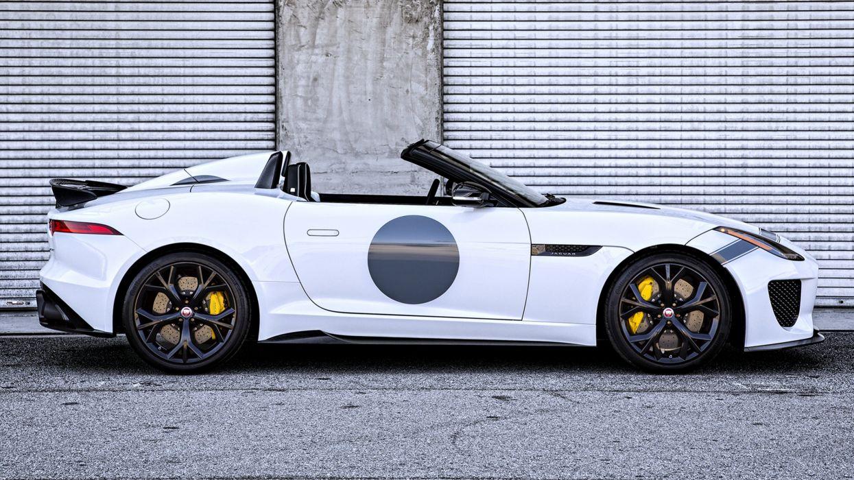 2015 Jaguar F-Type Project 7 US white roof speed motors cars wallpaper