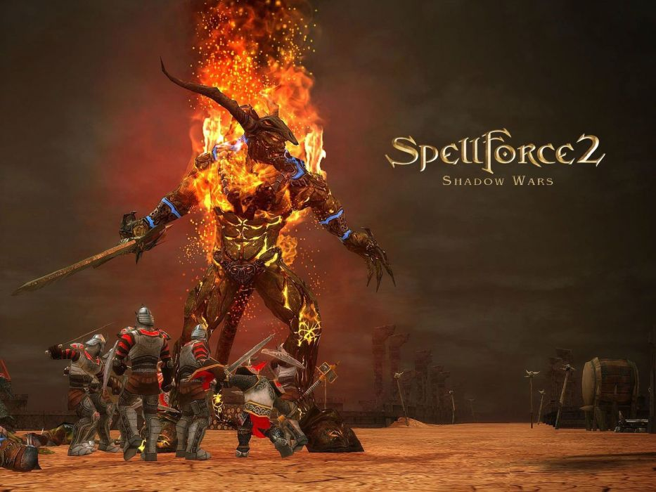 SPELLFORCE adventure fantasy strategy fighing rpg fighting magic wallpaper