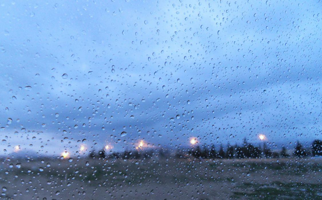 rain cloudy landscape Algeria lights winter glass sky wallpaper