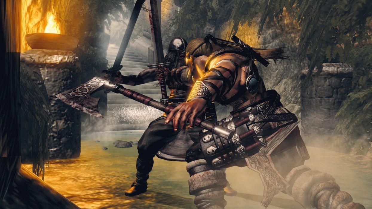 VIKING BATTLE ASGARD action adventure fighting sega 1vba norse exploration mythological warrior wallpaper