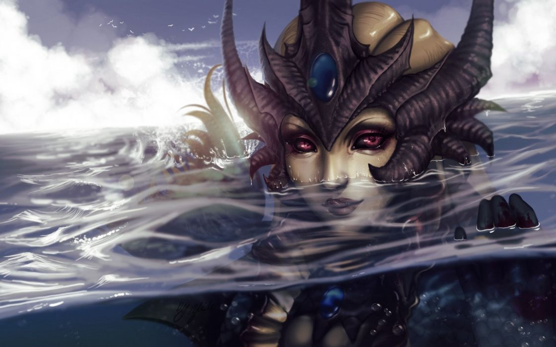 LEAGUE Of LEGENDS lol fantasy action adventure rpg mmo online warrior wallpaper