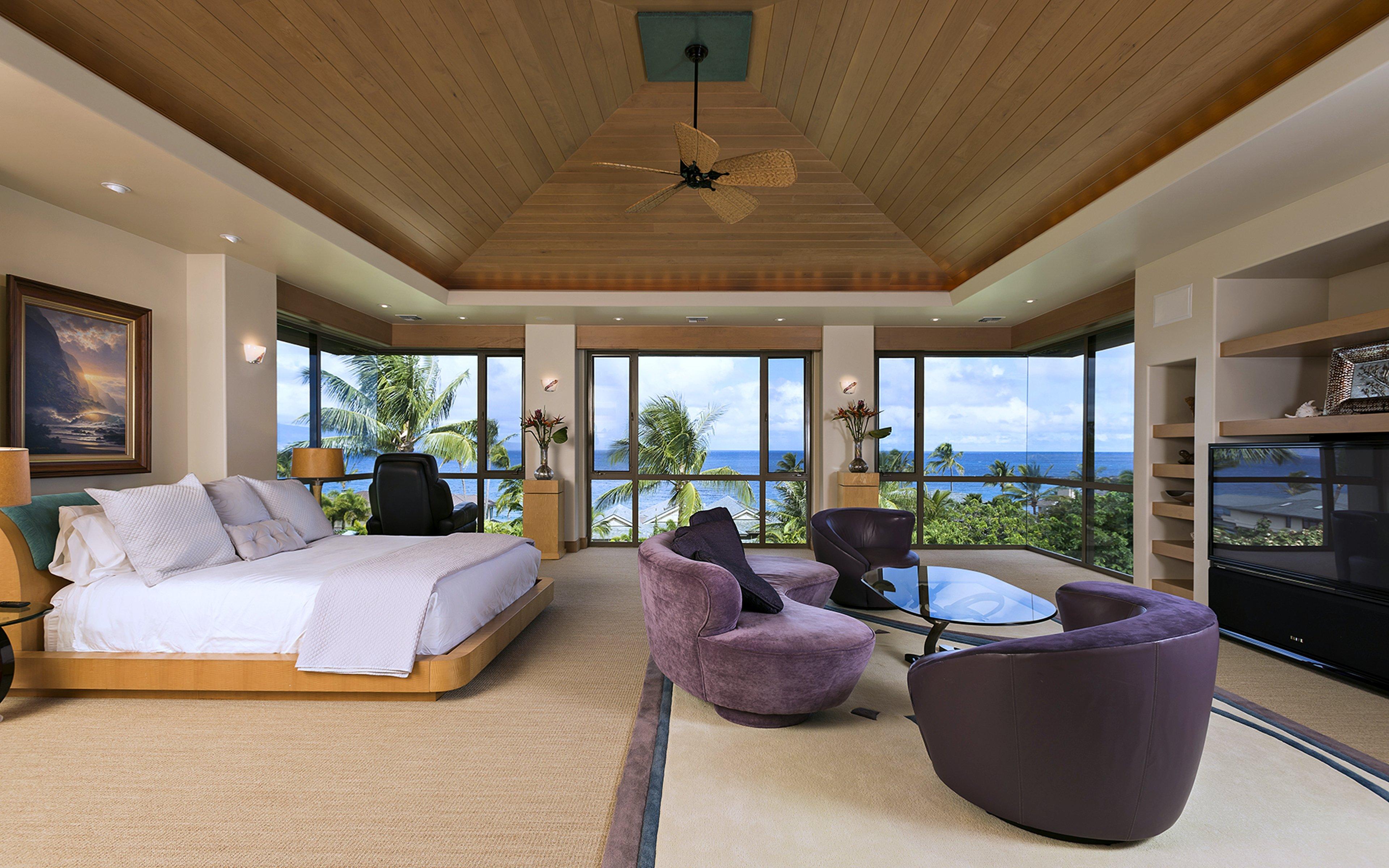 Maui Hawaii Bedroom Home Luxury Pacific Ocean Sea Interior