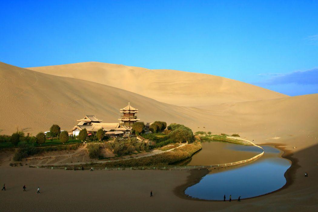 oasis-desierto-paisaje-naturaleza-lago wallpaper