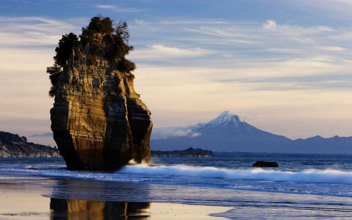 islote playa orilla paisaje naturaleza wallpaper