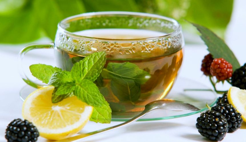 cup tea coffee Mint Lemon glass UUUEUOUUU wallpaper