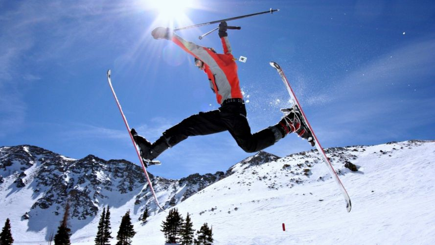 Extreme - snow - snowboarding - sports - Winter - mountains - landscape - sky - man - jumping wallpaper