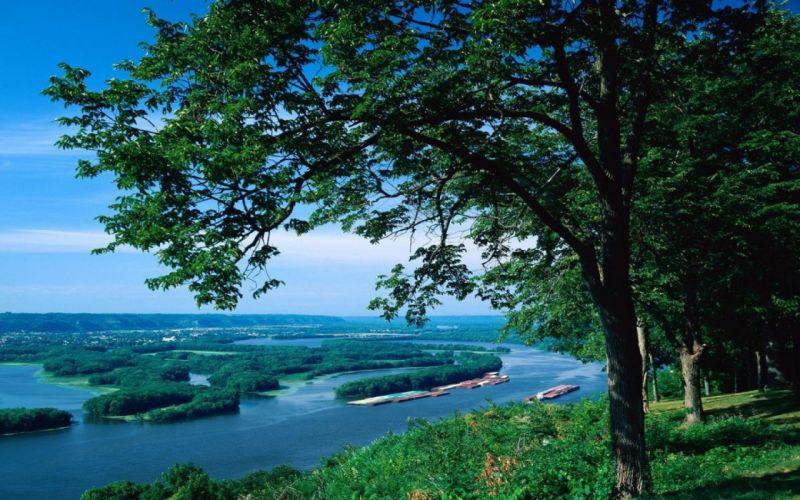rio missisipi estados unidos arboles paisaje naturaleza wallpaper