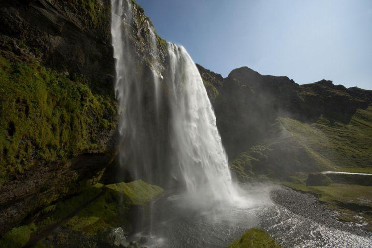 waterfall beautiful landscape sky water wallpaper
