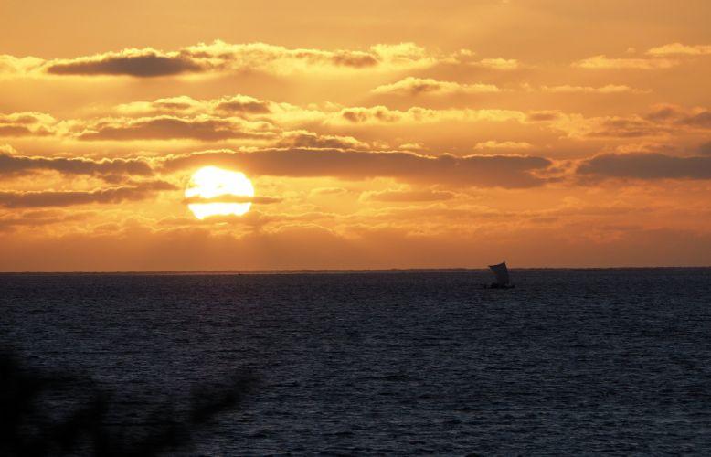 beautiful sunset sea ocean cloud amazing wallpaper