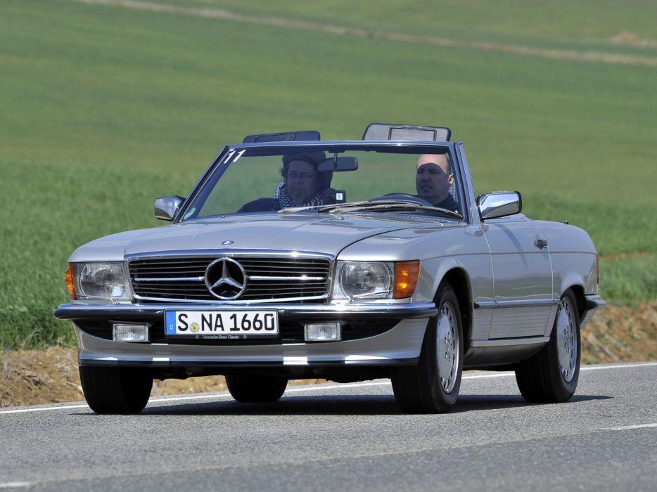 Mercedes Benz 500 S L R107 cars convertible wallpaper