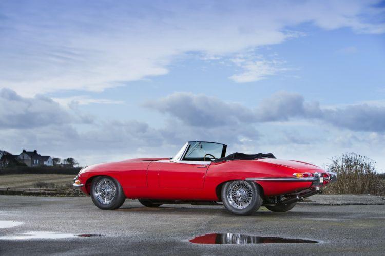 Jaguar E-Type Open Two Seater Series I 1961 cars convertible wallpaper
