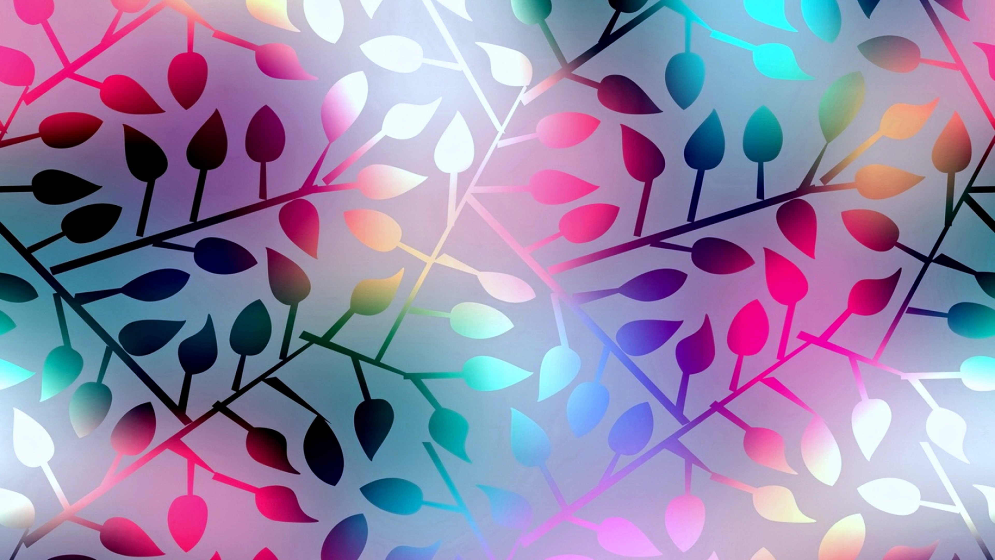 Colors Colorful Leaves Background Wallpapers Wallpaper
