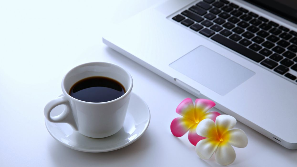 coffee flowers laptop desktop pc computer relax net wallpaper