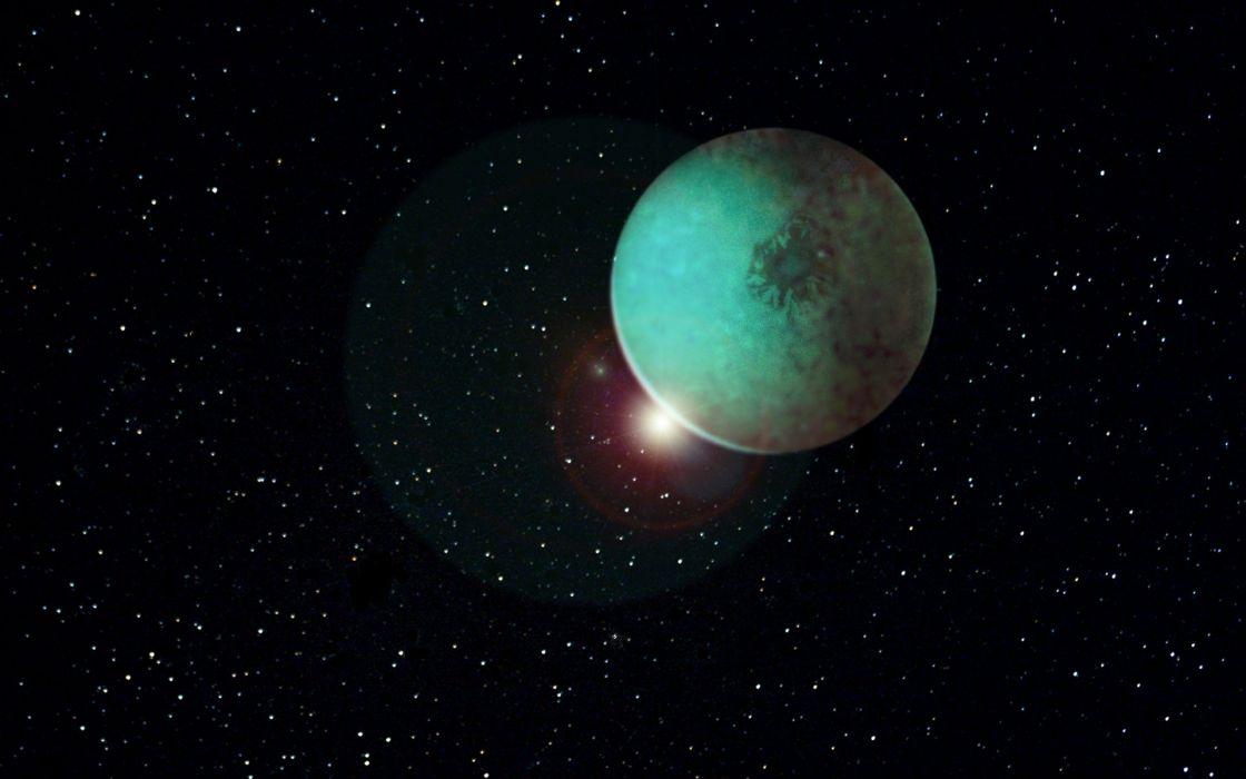 fantasy scifi space planet wallpaper