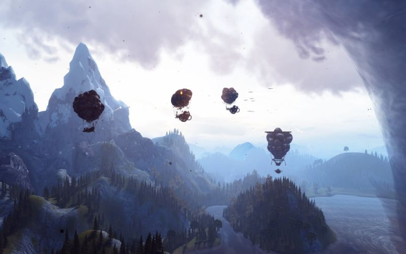AIRBUCCANEERS shooter fantasy airship aircraft airplane fighting viking battle balloon pirate pirates wallpaper