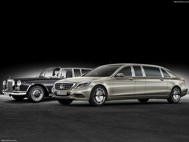 Mercedes Benz S600 Pullman Maybach limousine cars luxury 2016 wallpaper