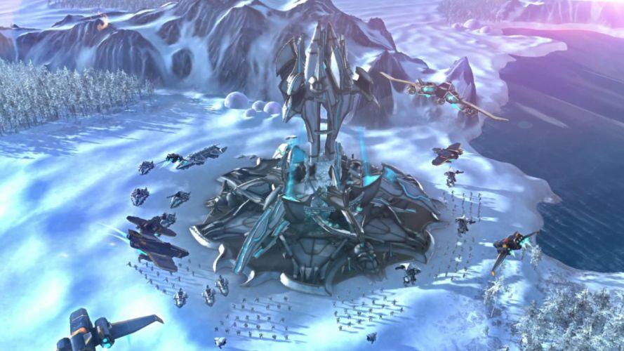 ETHERIUM futuristic strategy sci-fi fighting action war battle wallpaper
