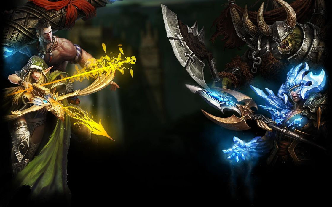 CHAOS HEROES ONLINE action battle arena mmo fantasy fighting MOBA 1cho wallpaper