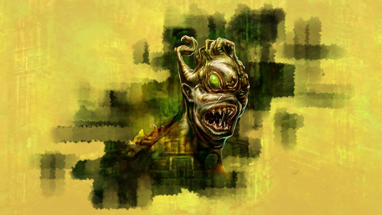 CHAINSAW WARRIOR board fighting horror dark survival tactical 1csw monster creature wallpaper