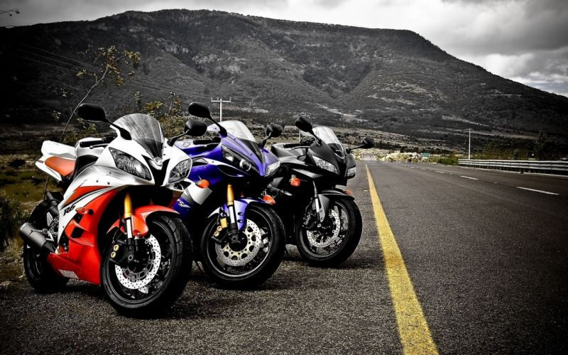 bike motorcycles race road three landscap 3 mountains nature motors speed wallpaper
