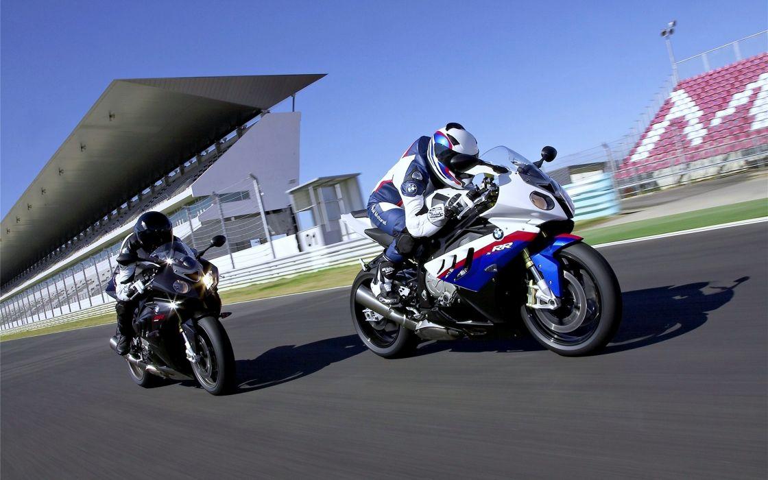 Bmw S1000 Rr Super Bike motorcycles race speed motors racers road Running track wallpaper
