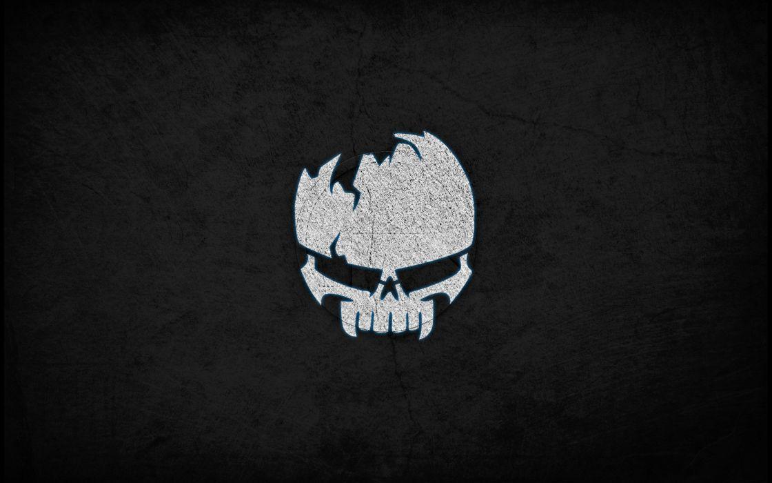 background - Dark - wall - skull - sign wallpaper