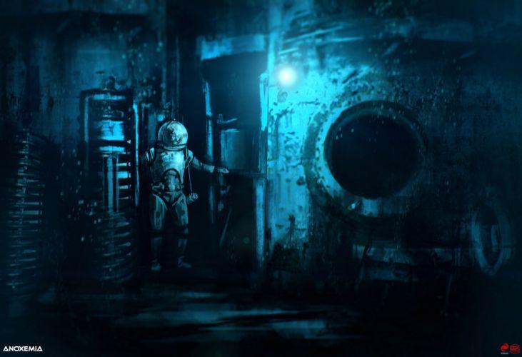 ANOXEMIA exploration sci-fi indie underwater horror diving adventure survival wallpaper