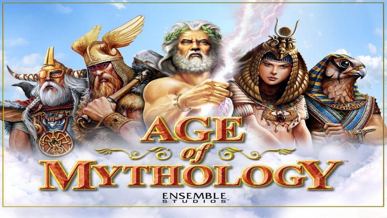 AGE Of MYTHOLOGY strategy fantasy rts board fighting 1aom god wallpaper