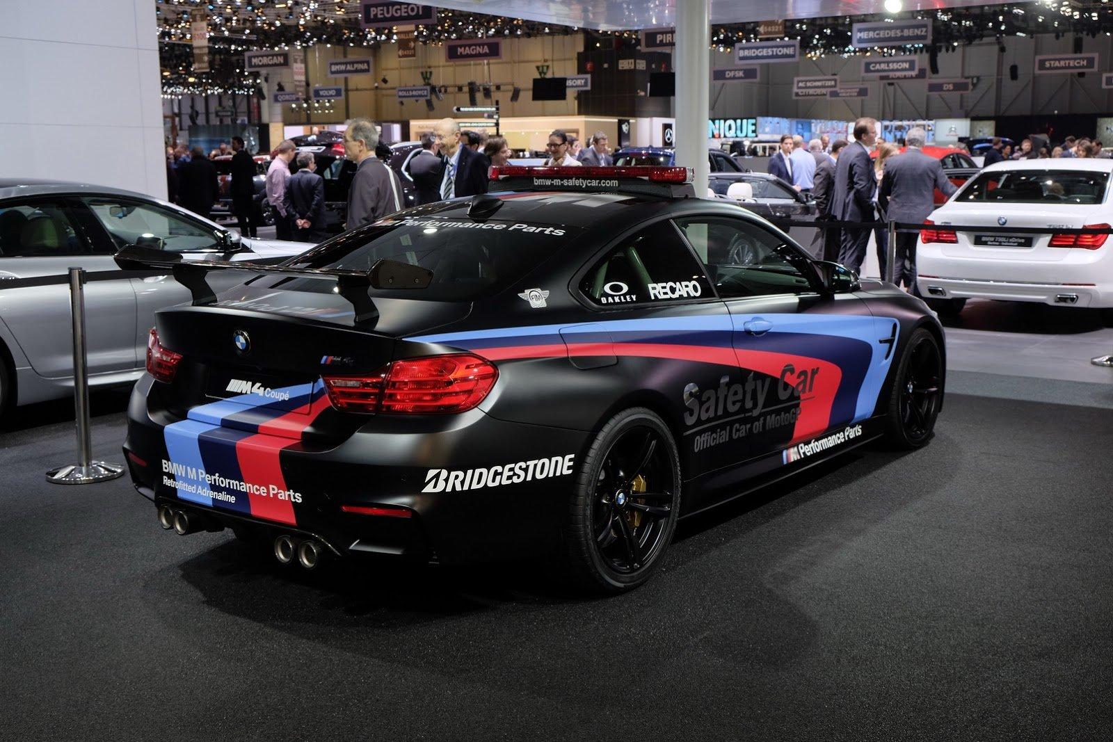 Cette BMW M4 MotoGP 2015, qui arborera une livrée noire frappée de