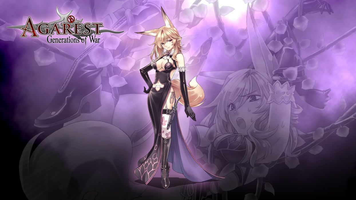 AGAREST Agaresuto Senki tactical rpg anime Generations War fighting strategy girls adventure wallpaper