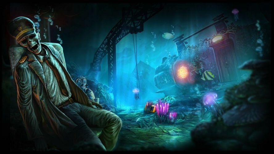 ABYSS WRAITHS EDEN exploration underwater ocean sea fantasy 1awe adventure indie wallpaper