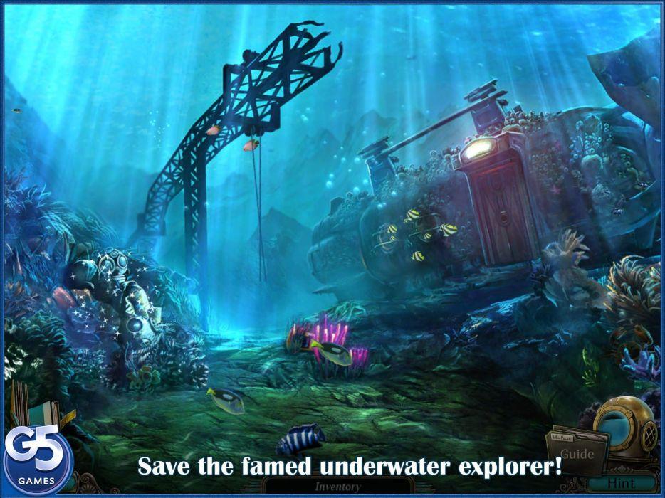 ABYSS WRAITHS EDEN exploration underwater ocean sea fantasy 1awe adventure indie poster wallpaper