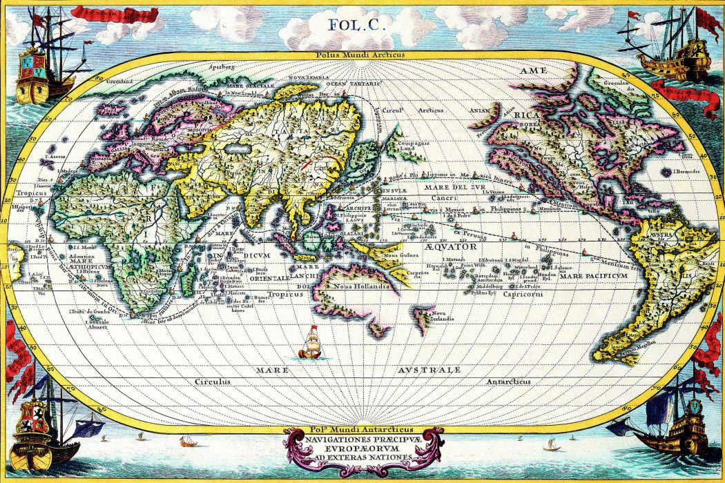 old world map cartography geography d 3600x2400 (15) wallpaper