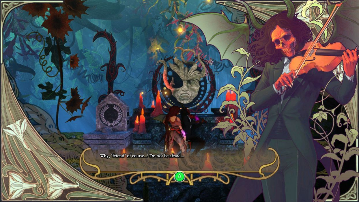 ABYSS ODYSSEY platform action adventure fantasy Rogue 1aody heroes fighting gothic dark death demon skull reaper violin wallpaper