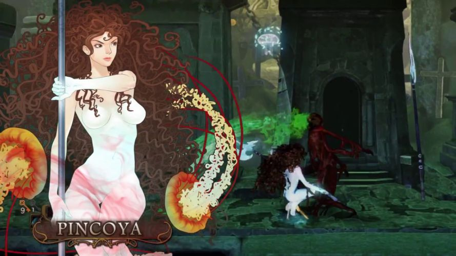 ABYSS ODYSSEY platform action adventure fantasy Rogue 1aody heroes fighting gothic dark poster girl warrior wallpaper