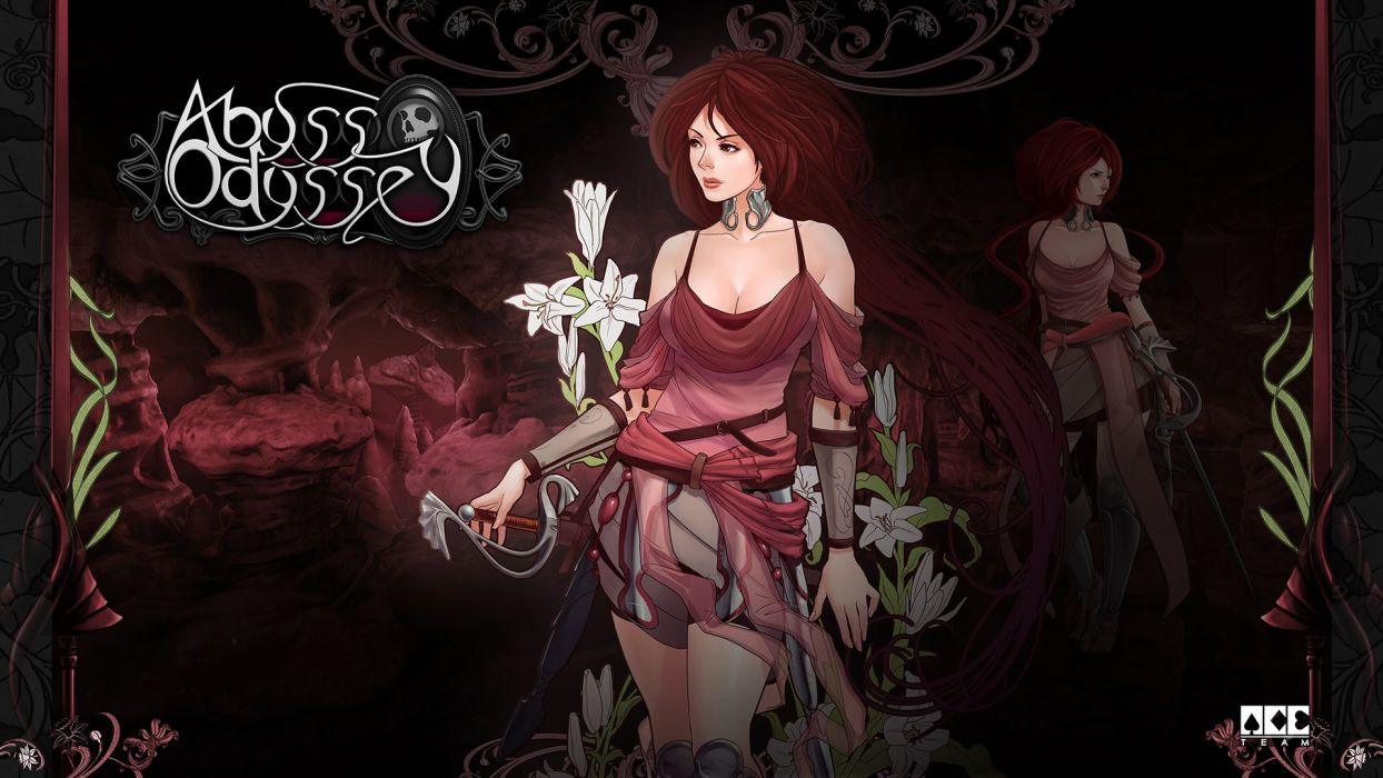 ABYSS ODYSSEY platform action adventure fantasy Rogue 1aody heroes fighting gothic dark poster girl wallpaper