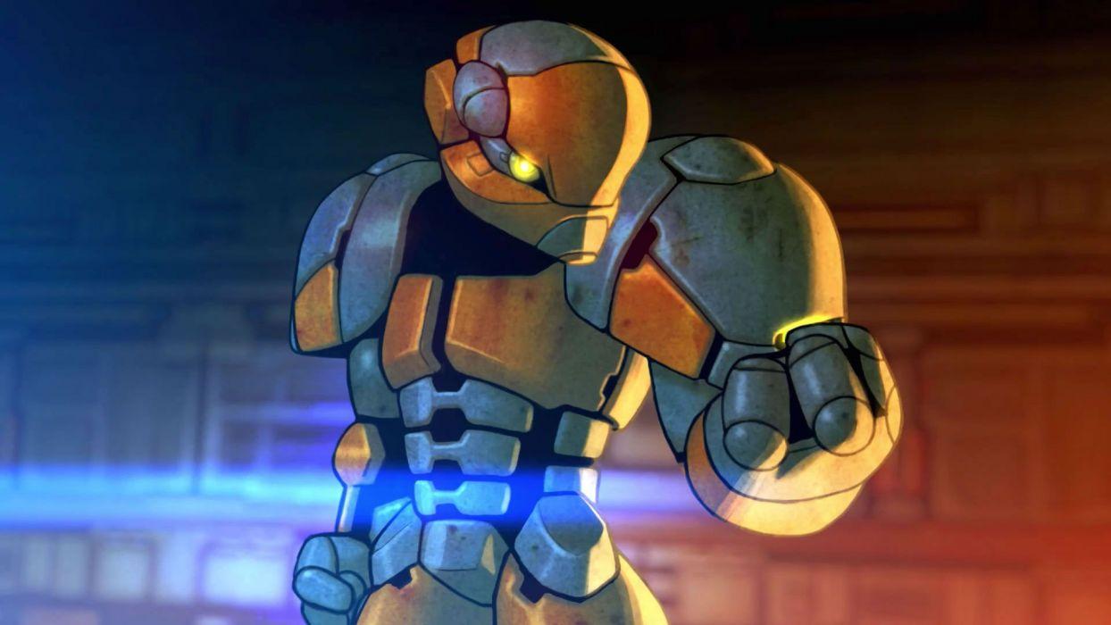 ARES Extinction Agenda EX scrolling action sci-fi adventure platform 1aeae futuristic warrior mecha robot wallpaper