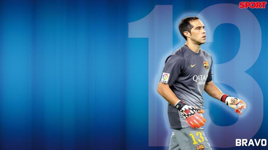 claudio bravo f c barcelona futbolista hombre chile wallpaper