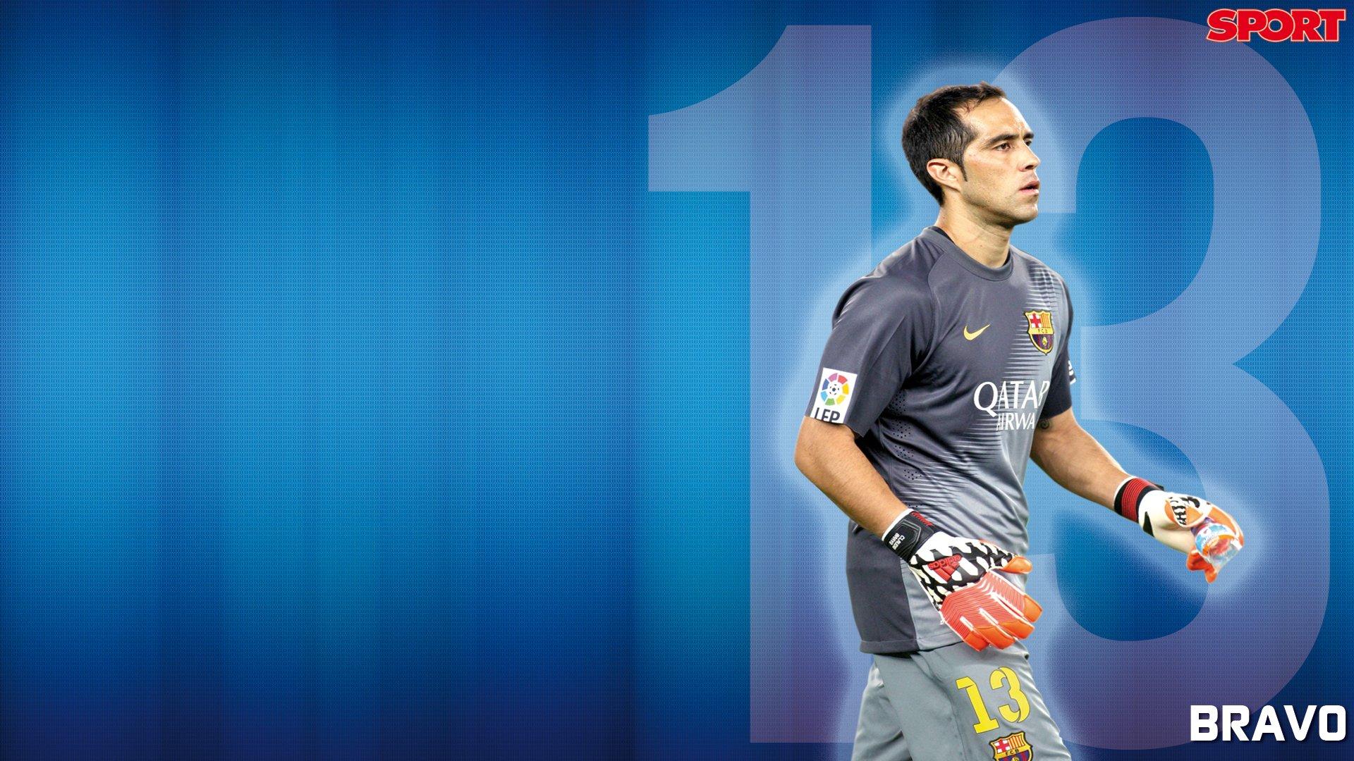 Claudio Bravo F C Barcelona Futbolista Hombre Chile
