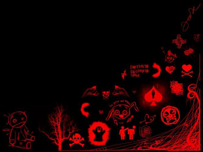 emo goth gothic dark wallpaper