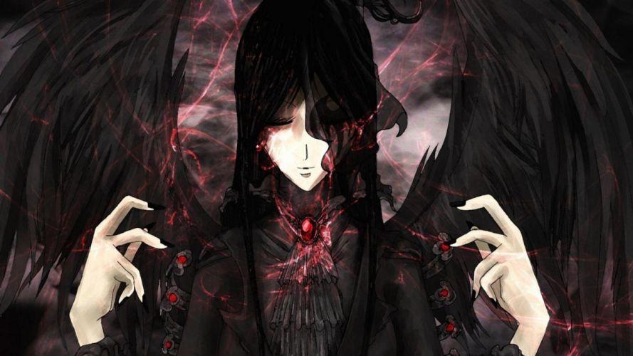 original emo goth gothic girl wallpaper