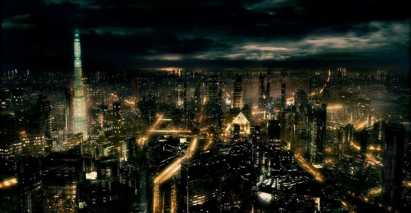 dark city cities night wallpaper | 2048x1062 | 632675 | wallpaperup