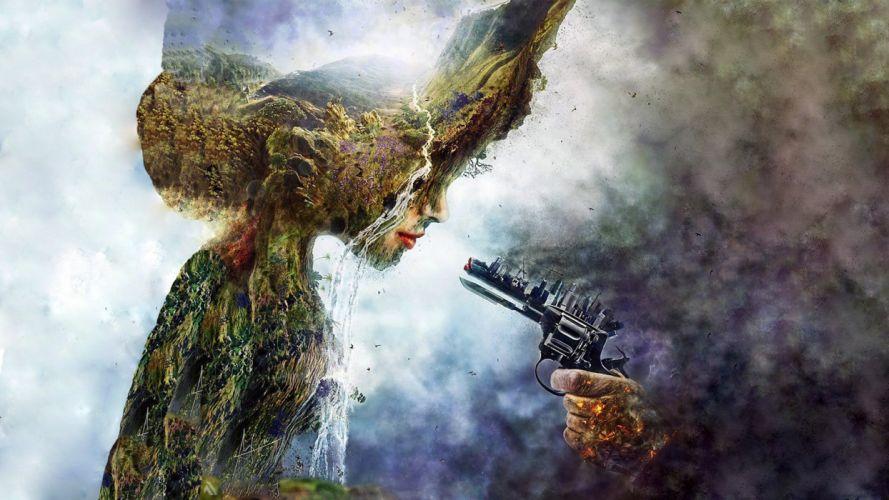 dark fantasy nature earth sadic sad artwork sci-fi wallpaper