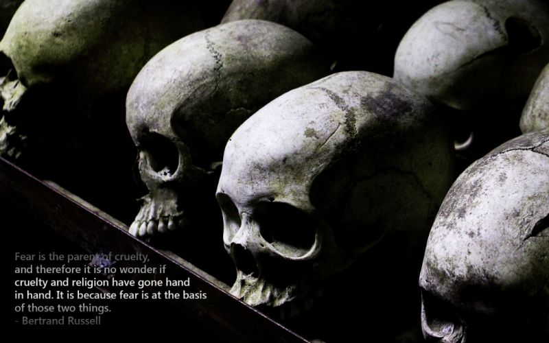 dark skull text typography wallpaper