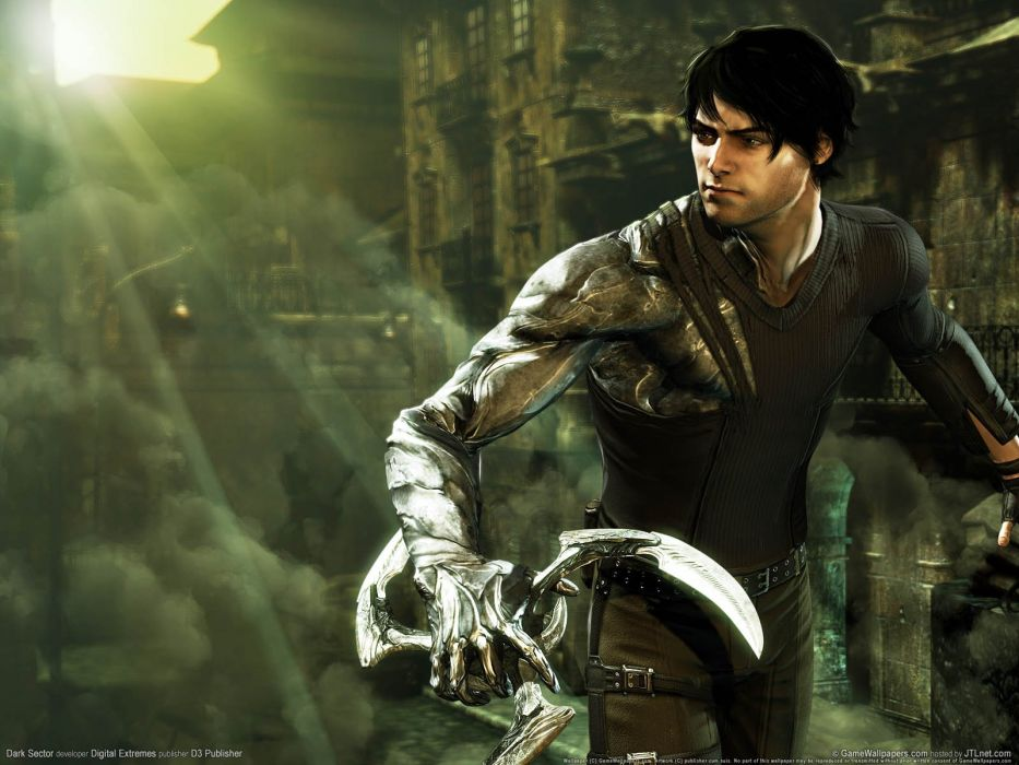 DARK SECTOR shooter sci-fi tps fighting mmo online action thriller 1dsect warrior wallpaper