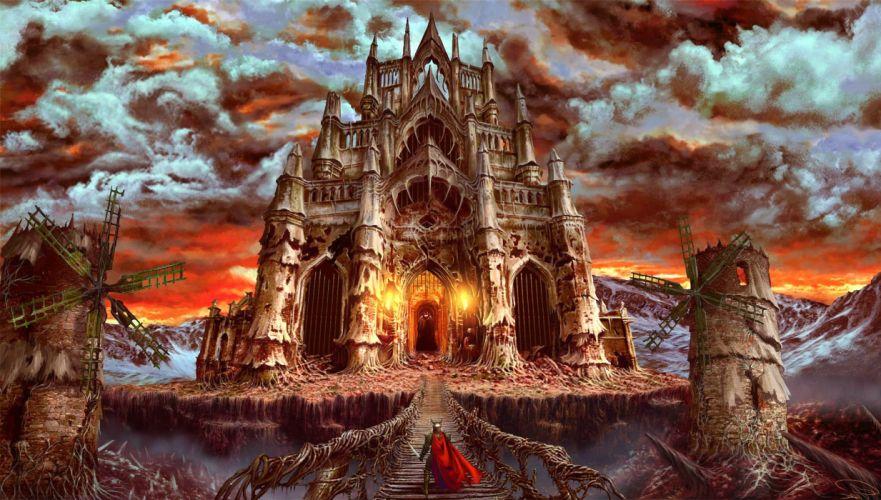 TORMENTUM DARK SORROW adventure fantasy dark indie fighting warrior knight castle artwork art wallpaper