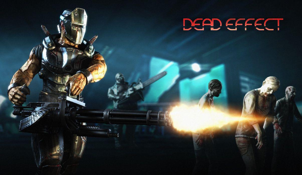 DEAD EFFECT shooter fps survival horror fighting sci-fi futuristic 1deff zombie dark blood wallpaper
