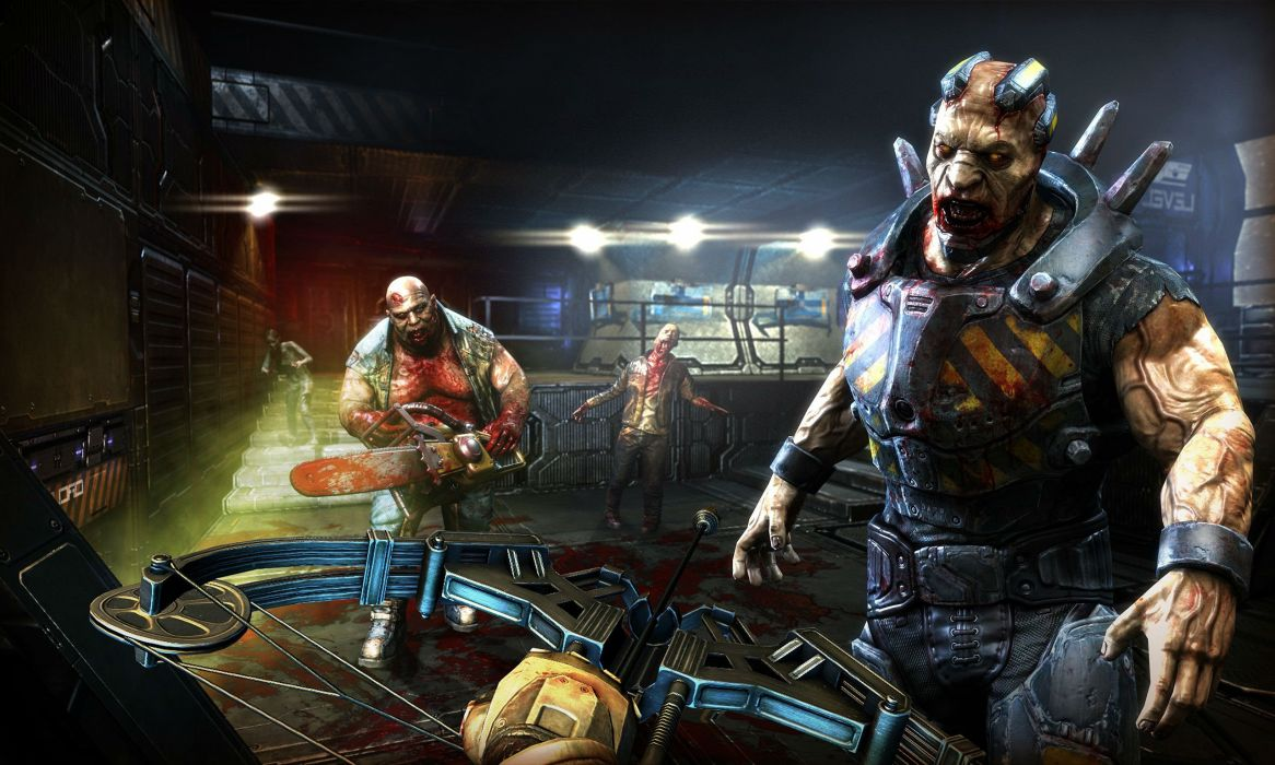 DEAD EFFECT shooter fps survival horror fighting sci-fi futuristic 1deff zombie dark blood wallpaper